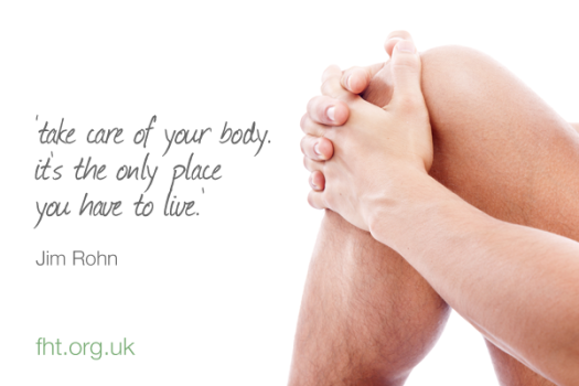 take care of your body - it's the only place you have to live - jim rohn