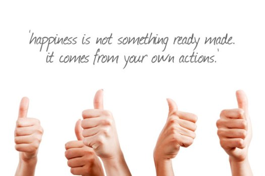 happiness is not something ready made. It comes from your own actions - dalai lama