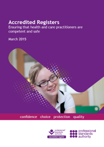 accredited registers report