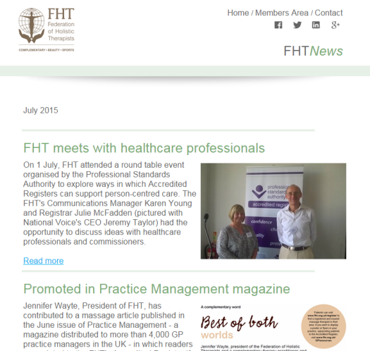 FHT News - July issue