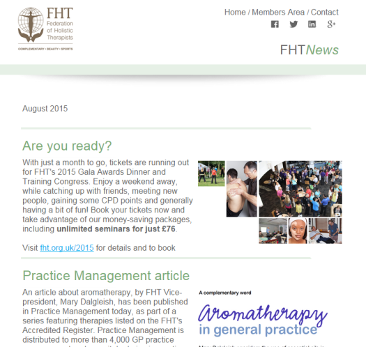 FHT News - August issue