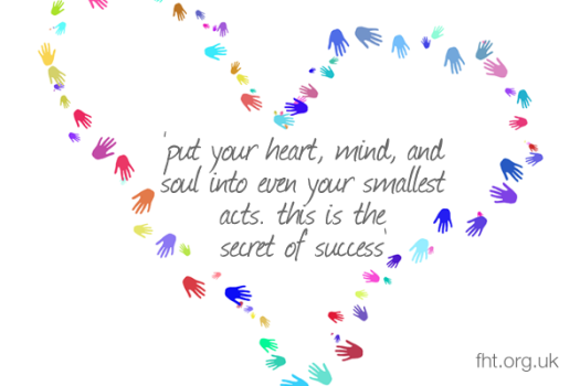 Put your heart, mind, and soul into even your smallest acts. This is the secret of success.