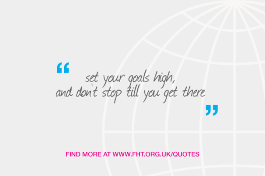 Set your goals high, and don't stop till you get there
