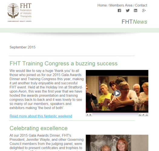 FHT News - September Issue