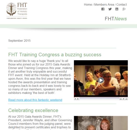 FHT News - September Issue