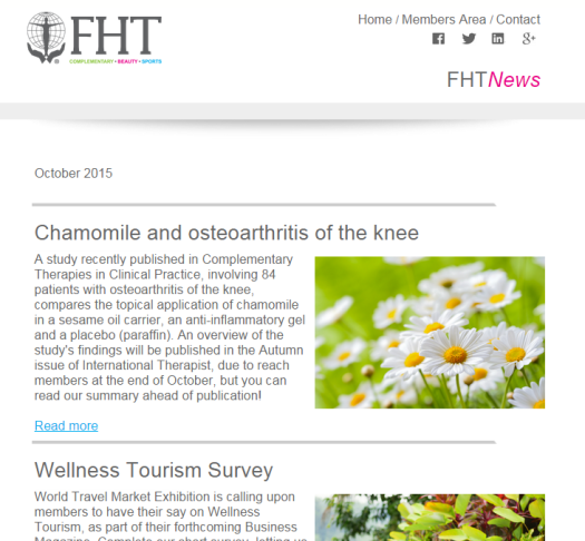 FHT News - October Issue