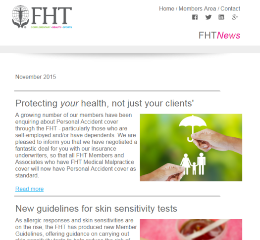 FHT News - November issue