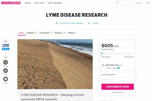 Crowdfunding for research into essential oils for lyme disease
