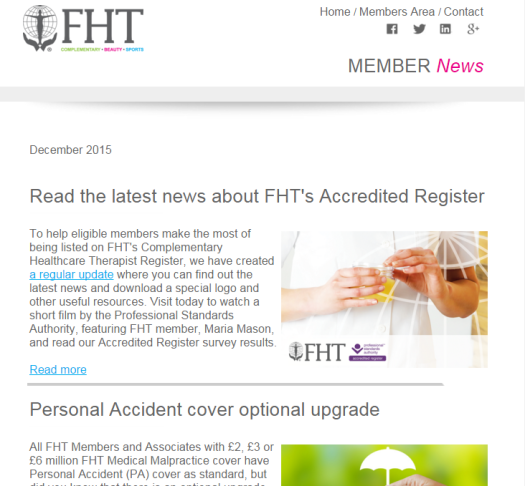 FHT News - December issue