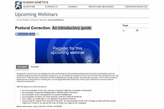 Free webinar: Postural Correction