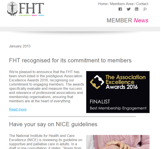 FHT News - January issue