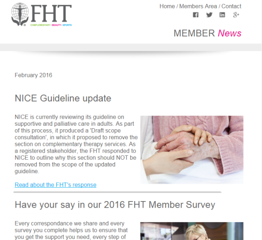 FHT Member News - February issue