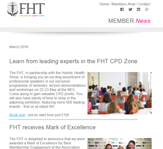 FHT Member News - March issue