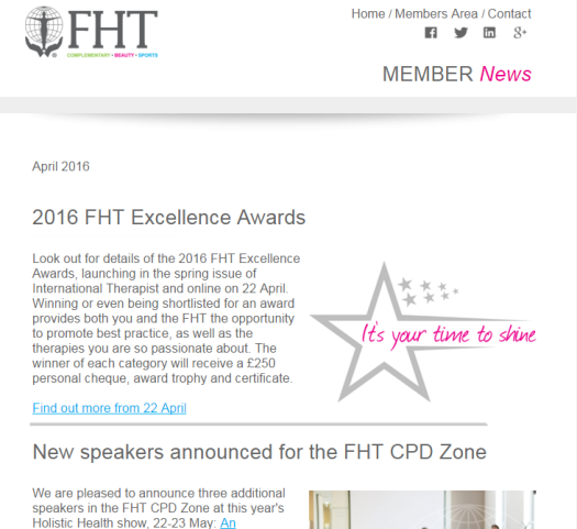 FHT Member News - April issue