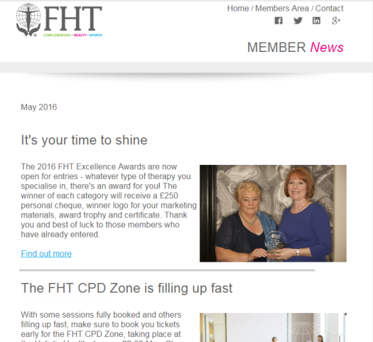 FHT Members News - May issue