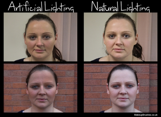 Makeup natural and artificial light
