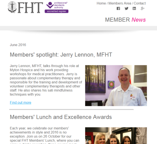 FHT Members News - June issue