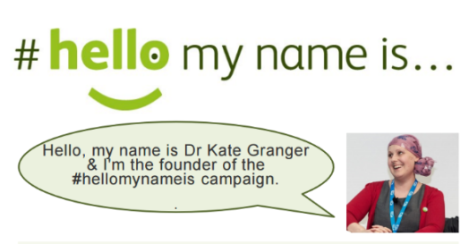 Kate Granger #hellomynameis