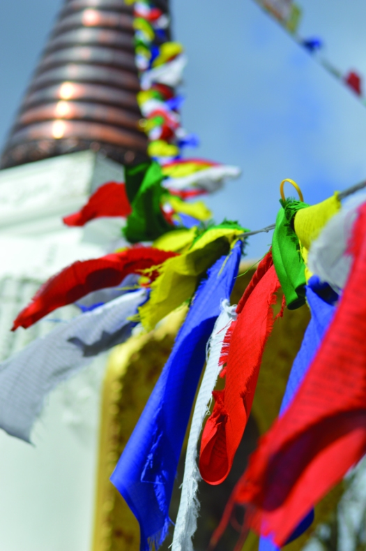 Kagyu Samye Ling flags