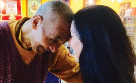 Maria Mason and monk