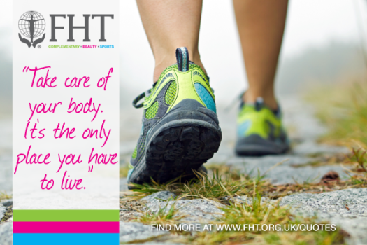 Take care of your body. It is the only place you have to live