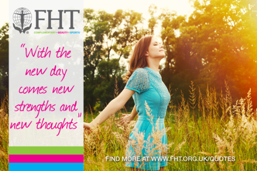with the new day comes new strengths and new thoughts