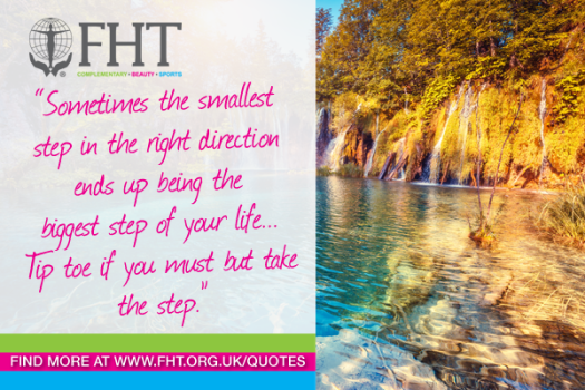 sometimes the smallest step in the right directions ends up being the biggest step of your life.  Tiptoe if you must but take the step