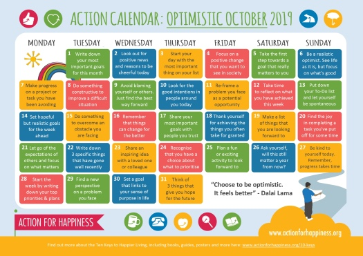 Blog Action for Happiness calendar